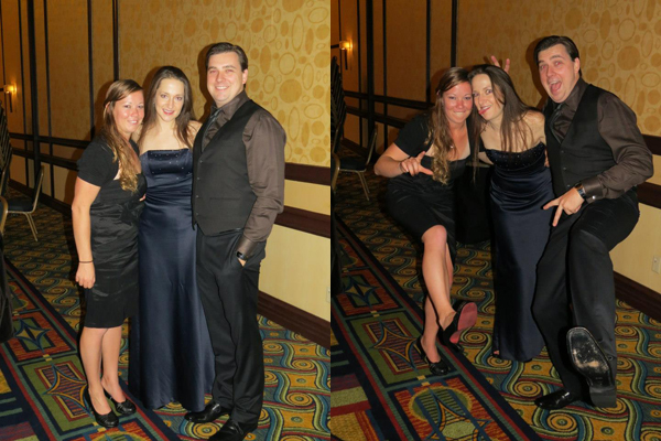Michelle, David and me at the Hungarian Scout Ball in January.