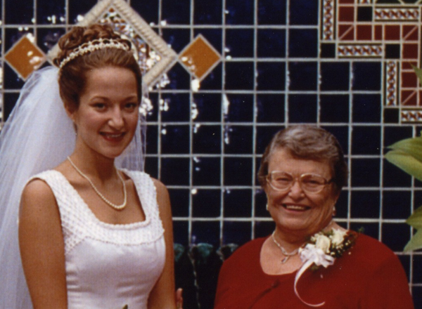 Me and Grandma Betty on my wedding day