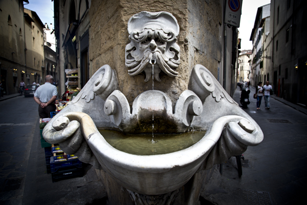 16th century Fountain by Bountalenti in the Piazza de' Frescobaldi