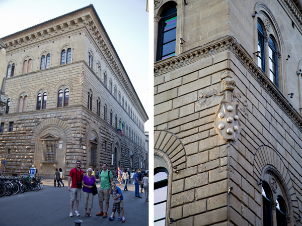Palazzo Medici Riccardi and the Medici family crest