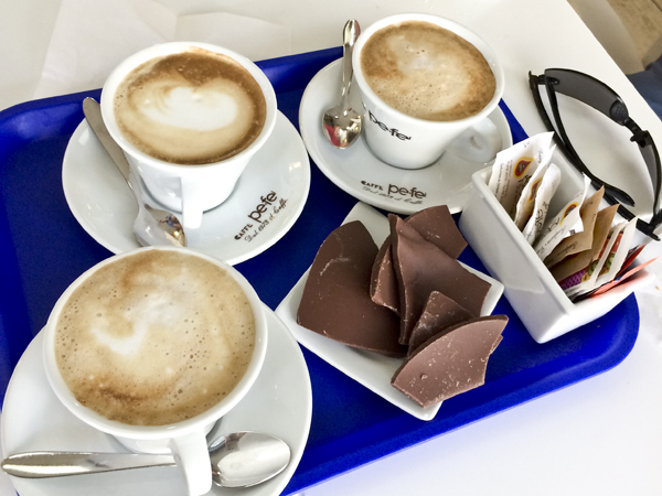 Cappuccino and chocolate may be the best combination ever.