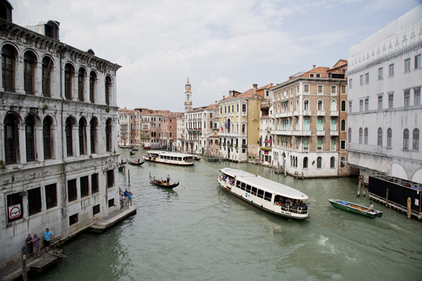 The view from the Rialto Bridge