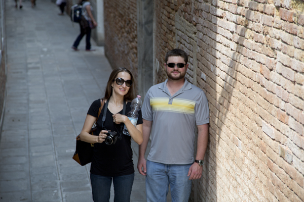Walking through Venice with Mat