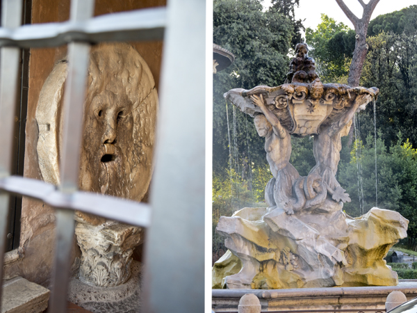 Bocca della Verità and a closer look at the Fountain of Tritons
