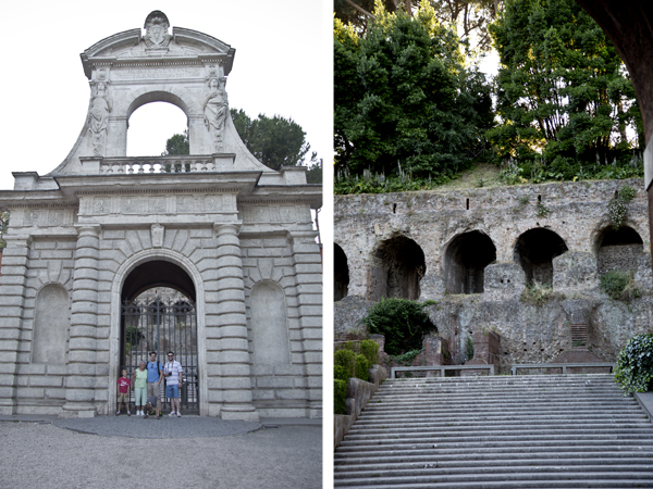 Entrance of Horti Palantini and the Farnese Gardens
