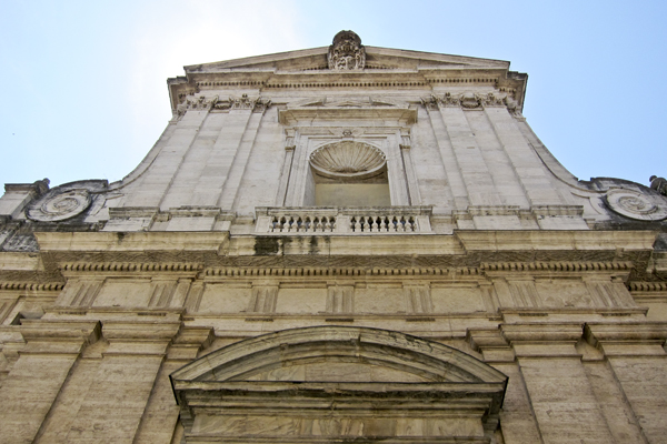 The exterior of San Giacomo in Augusta