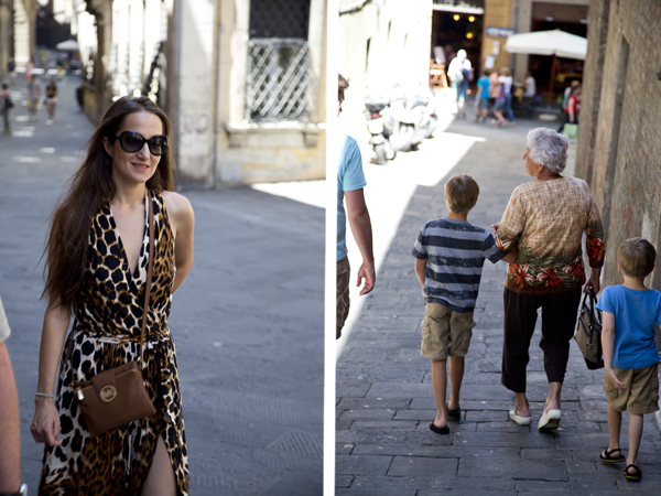 Streets of Siena (Big Guy helped his great-grandmother walk down a steep hill).