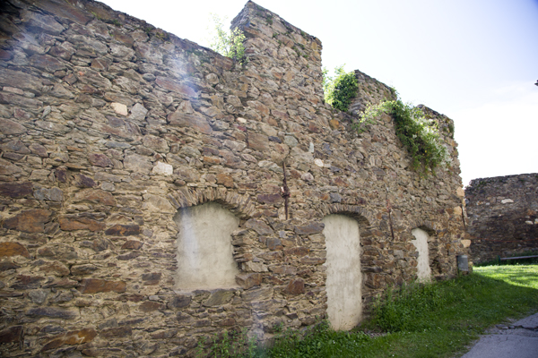 The castle walls