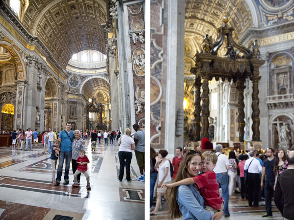 The views inside the basilica