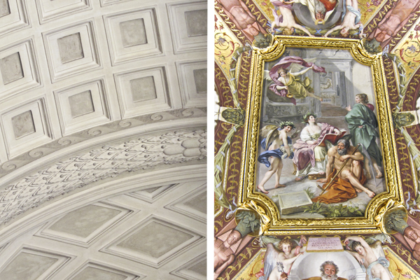 While you can't take pictures of the Sistine Chapel, there are many other beautiful ceilings you can photograph
