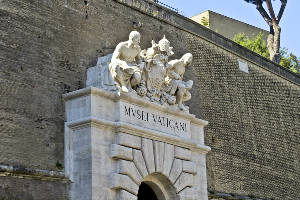 Entrance of the Vatican Museum
