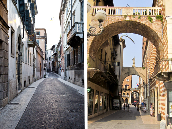 Some of the lovely streets of Verona