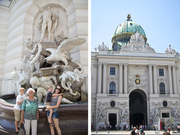 The Power by Land Fountain and Saint Michael's Gate at the Hofburg Palace