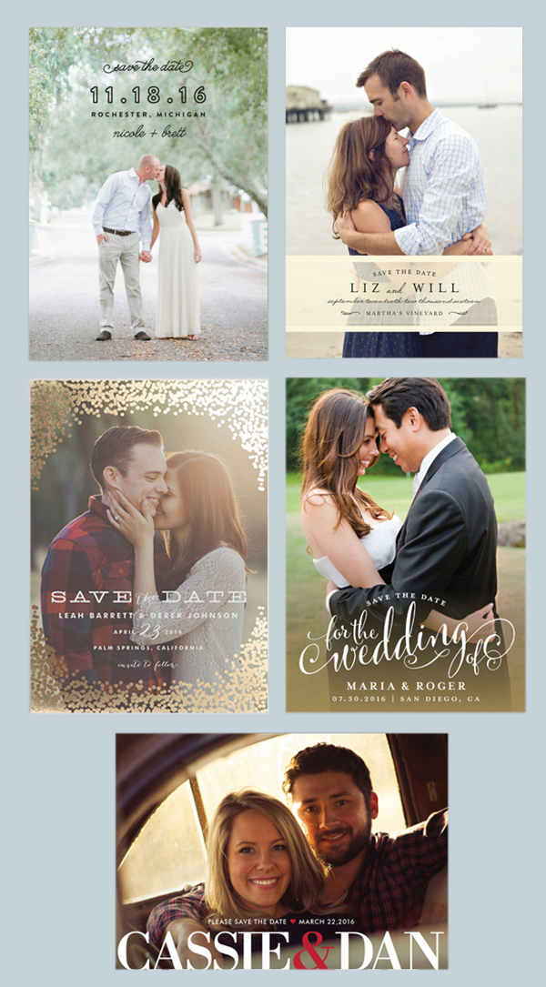 These are a few of my favorite photo save-the-date cards