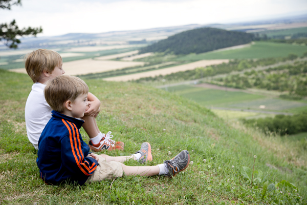 The boys taking in the gorgeous views.