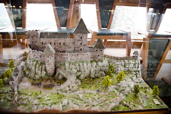 Main model of the castle.