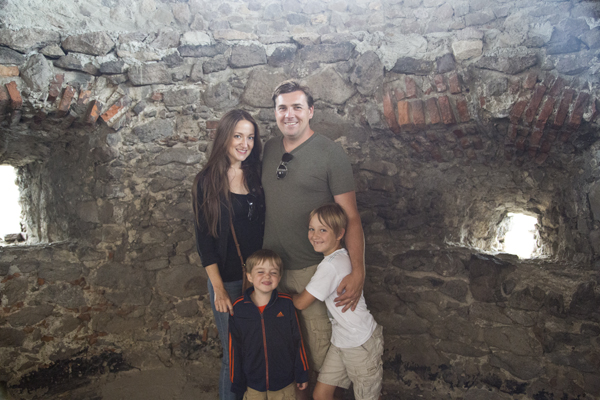 My family enjoying the castle tour.