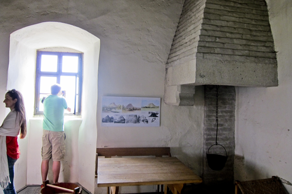 Inside part of the restored castle (I believe this was the kitchen)