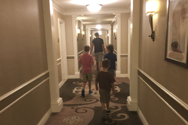 The Wolf Pack returning to the Hotel for the night