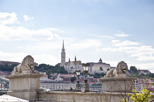 Széchenyi Chain Bridge with views of Castle Hill