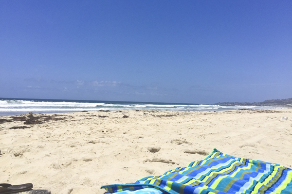 Lazy day on San Diego's Mission Beach