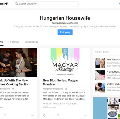 Hungarian Housewife is now on Bloglovin'