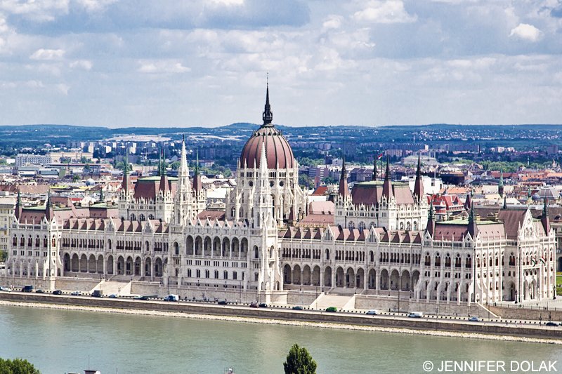 The Hungarian Parliament Building in Budapest