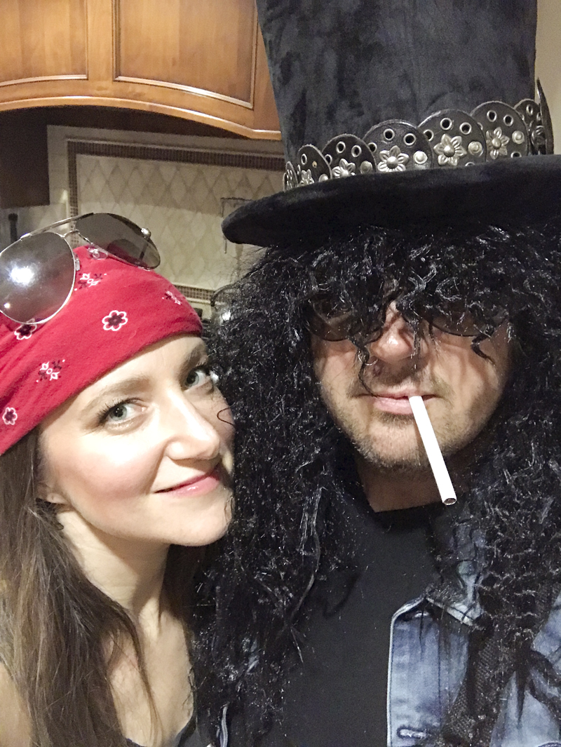 Slash and Axl Forever Guns and Roses Halloween Costume